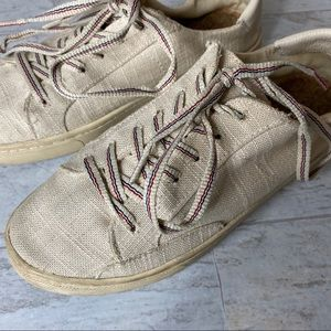 Size 7 Cream Soludos Ibeza Lace up sneakers /shoes